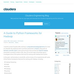 A Guide to Python Frameworks for Hadoop - Cloudera Engineering Blog