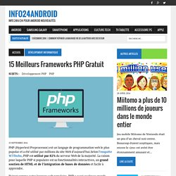 15 Meilleurs Frameworks PHP Gratuit – Info24android