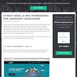 10 Best Node.js MVC Frameworks for JavaScript Developers » CODECALL