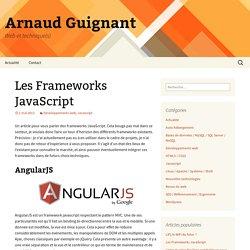 Les Frameworks JavaScript - Arnaud Guignant