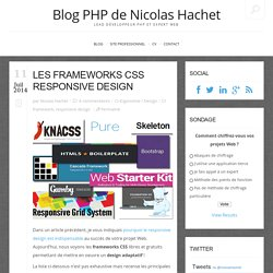 Les frameworks CSS responsive design