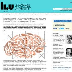 Framgångsrik undervisning: fokus på elevers tankesätt, snarare än på matriser: Venue: Lärarutbildning: Linköpings universitet