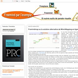 Framindmap ou la solution alternative de Mind-Mapping en ligne