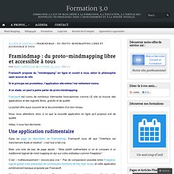 Framindmap : du proto-mindmapping libre et accessible à tous