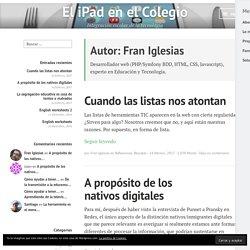 Fran Iglesias – El iPad en el Colegio