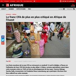 Le franc CFA de plus en plus critiqué en Afrique de l'Ouest