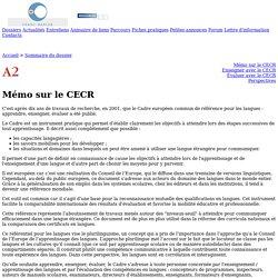 Franc-parler - Dossier : Mémo sur le CECR