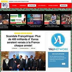 Scandale Françafrique: Plus de 400 milliards d' Euros seraient versés à la France chaque année! - Afrique direct