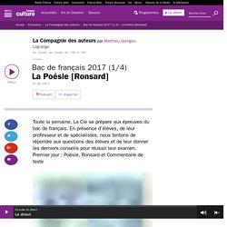 Bac de français 2017 (1/4) : La Poésie [Ronsard]