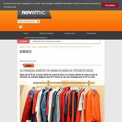 Les Français achètent de moins en moins de vêtements neufs