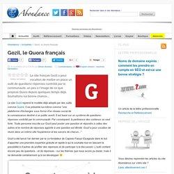 Gozil, le Quora français - Actualité Abondance
