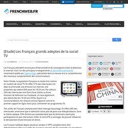 [Etude] Les Français grands adeptes de la social TV