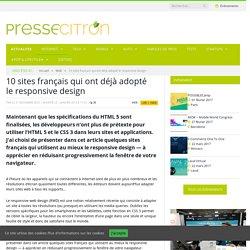 responsive design - 10 sites français
