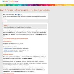 Cours de Français 3e - Affirmer son point de vue dans l'argumentation