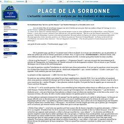 """Place de la Sorbonne - """"Qu'est-ce qu'être français ?"""" : l'Averti"""