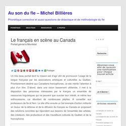 Le français en scène au Canada