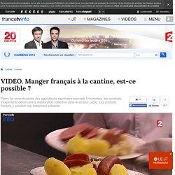 FRANCE 2 06/11/14 JT20H Manger français à la cantine, est-ce possible ? (interview dans la cantine du ministère de l'agriculture)