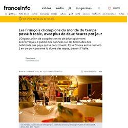 Les Français champions du monde du temps passé à table, avec plus de deux heures par jour