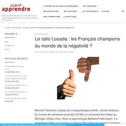 Le ratio Losada : les Français champions du monde de la négativité ?