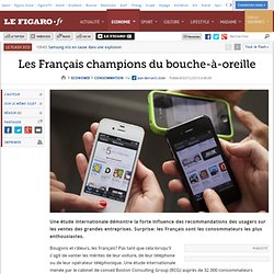 Les Français champions du bouche-à-oreille
