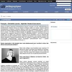 Français : Christelle Lacroix : Hybrider l'étude d'une œuvre