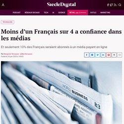 Reuters Institute _Moins d'1Français sur 4 a confiance dans les médias (janv-fev 2020)