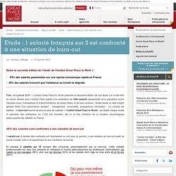 Etude : 1 salarié français sur 2 est confronté à une situation de burn-out