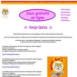 Conju Quizz : jeux français gratuits sur la conjugaison française