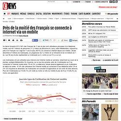 Près de la moitié des Français se connecte à internet via un mobile