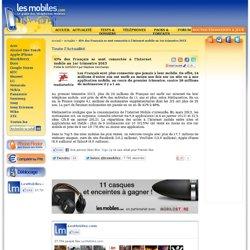 45% des Français se sont connectés à l'Internet mobile au 1er trimestre 2013