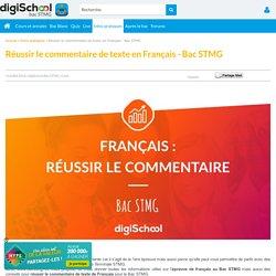 Français : Conseils pour le commentaire de texte
