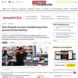 Deux Français sur trois considèrent que leur pouvoir d'achat diminue