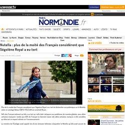 Nutella : plus de la moité des Français considèrent que Ségolène Royal a eu tort