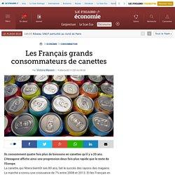 Les Français grands consommateurs de canettes