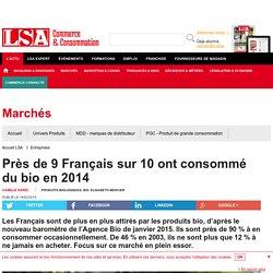 Près de 9 Français sur 10 ont consommé du... - Produits Biologiques