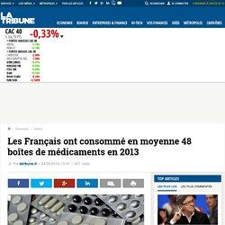 Les Français ont consommé en moyenne 48 boîtes de médicaments en 2013