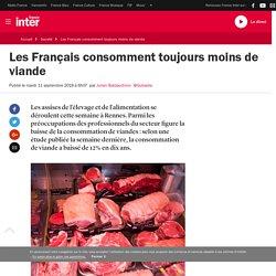 Les Français consomment toujours moins de viande