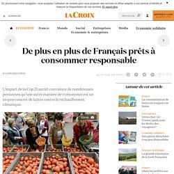 De plus en plus de Français prêts à consommer responsable - La Croix