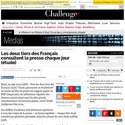 Les deux tiers des Français consultent la presse chaque jour (étude)