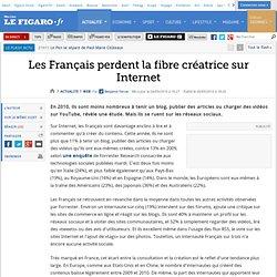 Web : Les Français perdent la fibre créatrice sur Internet