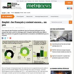 Emploi : les Français y croient encore... un peu