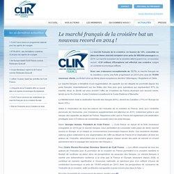 Le marché français de la croisière bat un nouveau record en 2014 ! - CLIA France