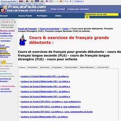 Cours de français grands débutants gratuits FLE FLS enfants