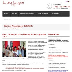 Cours de Français Pour Débutants à Paris
