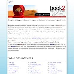 français - arabe pour débutants – Table des matières