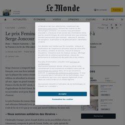 Le prix Femina du roman français décerné à Serge Joncour...