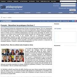 Français : Déconfiner les pratiques d'écriture ?