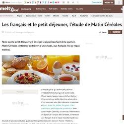 Les français et le petit déjeuner, l'étude de Matin Céréales