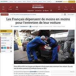 Les Français dépensent de moins en moins pour l'entretien de leur voiture