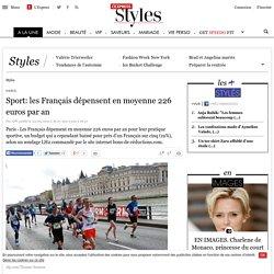 Sport: les Français dépensent en moyenne 226 euros par an